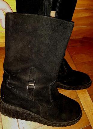 Чорні чоботи замша р40