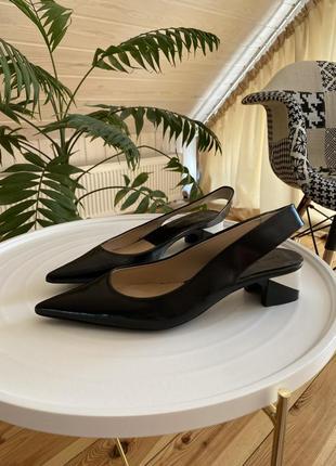 Кожаные туфельки zara