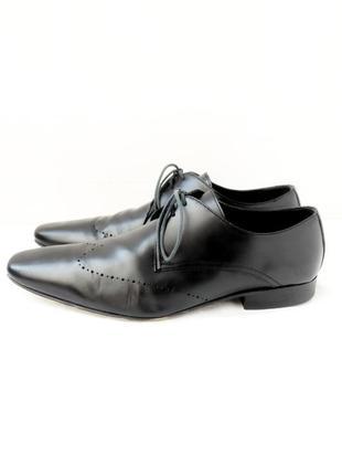 Стильные фирменные классические кожаные туфли kurt geiger. размер uk10/ eur44.
