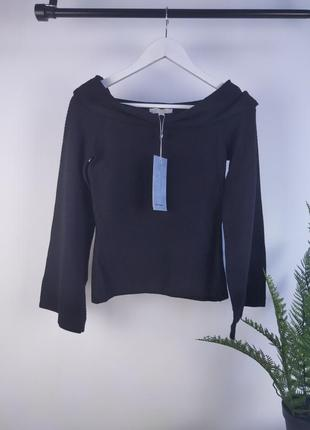 Черная кофта с открытыми плечами от vero moda