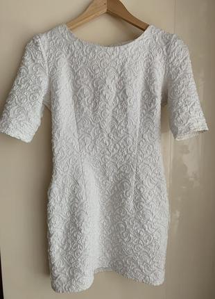Белое женское платье! состояние идеальное