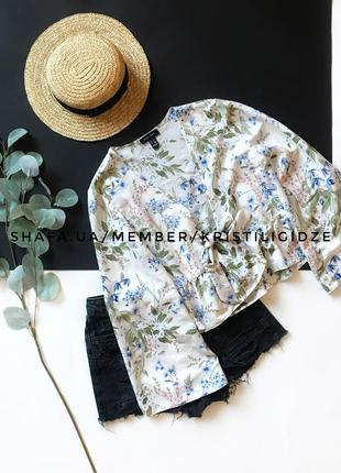 Шикарная легкая блуза накидка кимоно на завязках