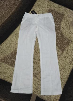 Льняные брюки клеш promod