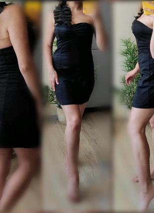 С-м вечернее мини платье бандо трикотаж