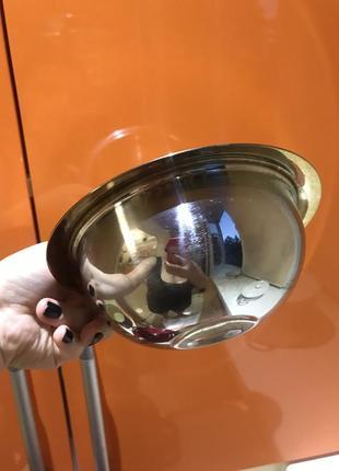 Миска металлическая тарелка