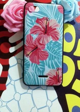 Стильный силиконовый чехол на xiaomi redmi 6a с цветами