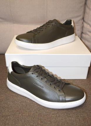 Кожаные кроссовки кеды calvin klein falconi 45.5 и 46.5 размер