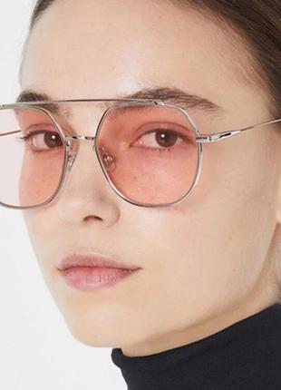 🥰имиджевые солнцезащитные очки с розовыми стеклами🥰