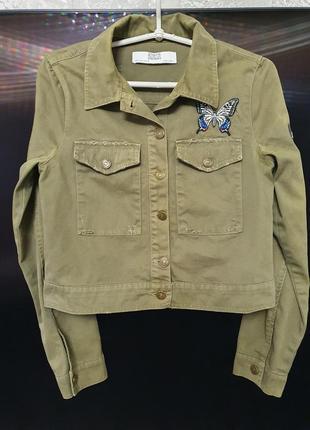 Стильная,молодёжная джинсовка/ джинсовый пиджак / джинсовая курточка