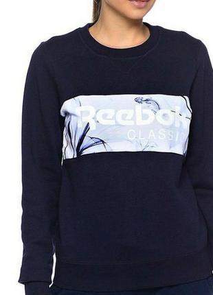 Свитшот свитер reebok floral crew