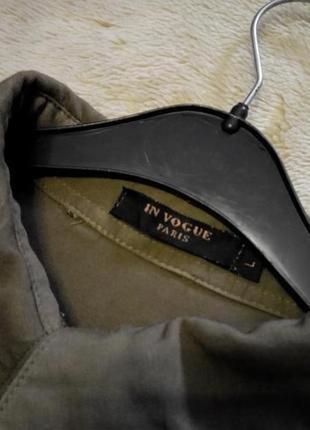 Котоновая рубашка с патчами нашивками размер 10-12 paris in vogue5 фото