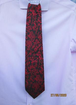 "Брендовый, шелковый галстук "" roberto angelico "". 160 х 9.5 см. италия."