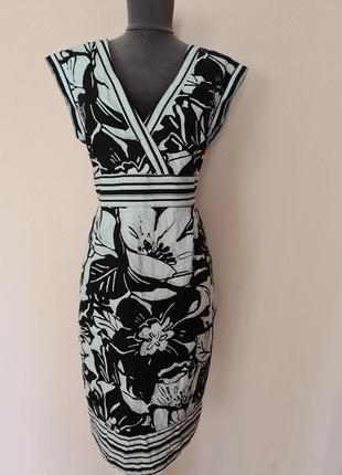 Плаття в квітковий принт льон 16