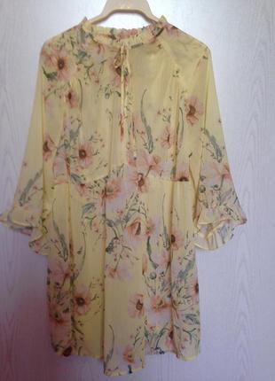 Лёгкая туника платье блуза для беременных