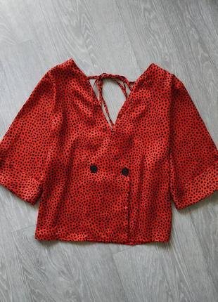 Шикарная красная блуза