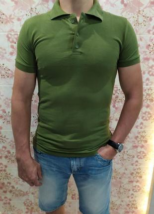 Мужская футболка поло, поло трикотаж, оливковая футболка поло, поло лакоста