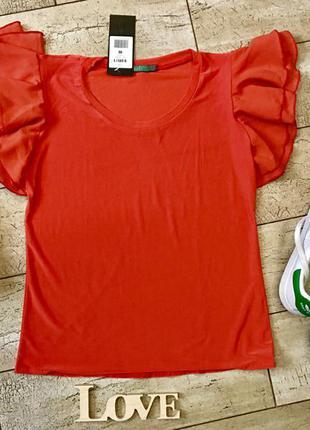 Новая блузка, футболка, кофточка алого, красного цвета