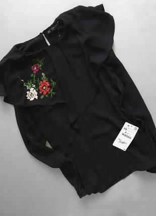 Zara блуза с вышивкой zara