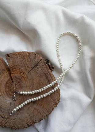 Жемчужное украшение на шею, жемчужное ожерелье, жемчужный чокер