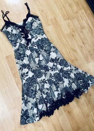 Невероятное шёлковое платье сарафан karen millen