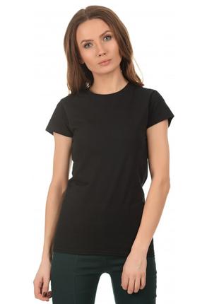 Женская базовая черная футболка германия р.s,l