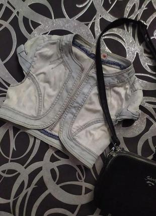 Болеро пиджкак джинсовый