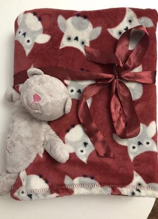Детское одеяло с игрушкой