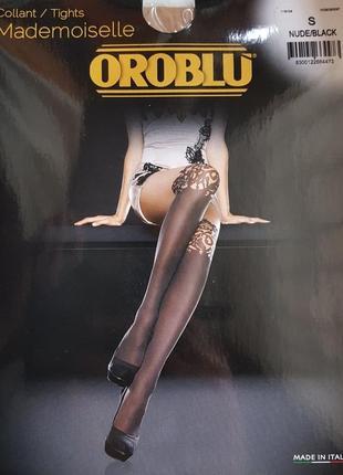 Эксклюзив! элитные фирменные итальянские колготы с имитацией чулков  оroblu mademoiselle