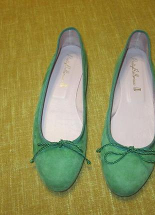 Pretty ballerinas оригинал замшевые (кожаные) туфли балетки р. 39.5 - 40