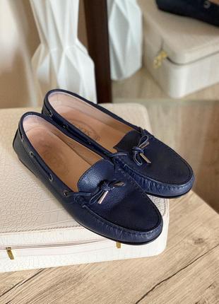 Кожаные лофери, туфли tod's оригинал