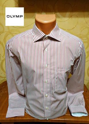 Высококачественная рубашка olymp luxor (slim line), р.l
