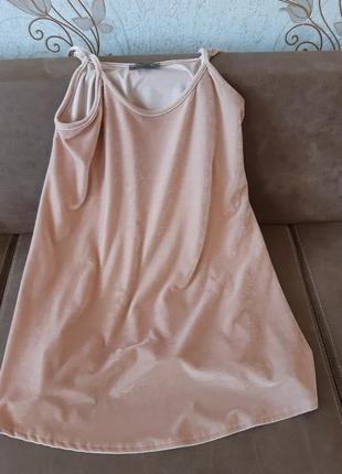 Оверсайз платье сарафан велюр