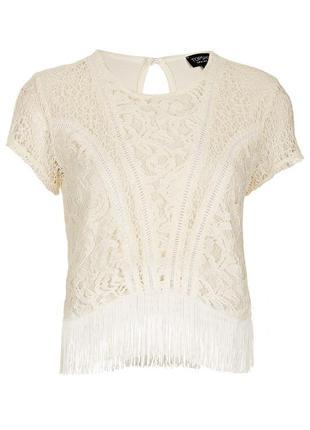 Блуза topshop з бахромою