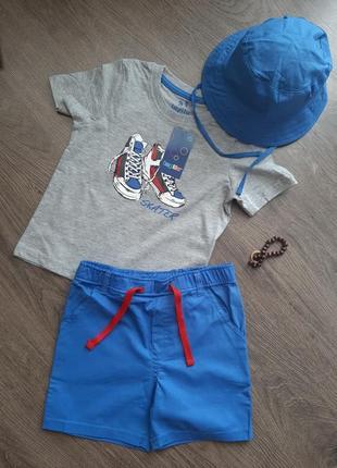 Тройний комплект( футболка, шорти панама) ( майка, шорти, футболка)