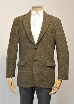 Шерстяний твідовий піджак m&s harris tweed - 38 - m