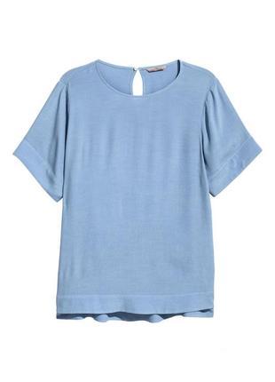 Топ из крепа h&m 0522068003 голубого цвета