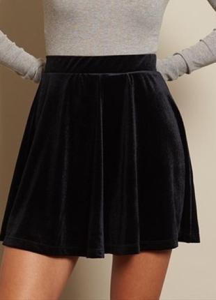 Вельветовая бархатная юбка american apparel zara mango