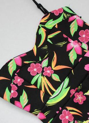 Яркое неопреновое миди платье-сарафан от glamour babe