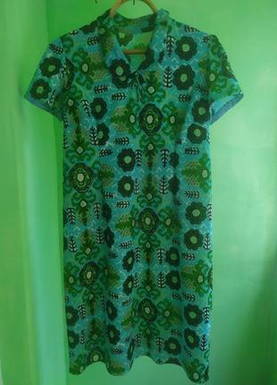 Винтажное платье, ручная работа короткий рукав