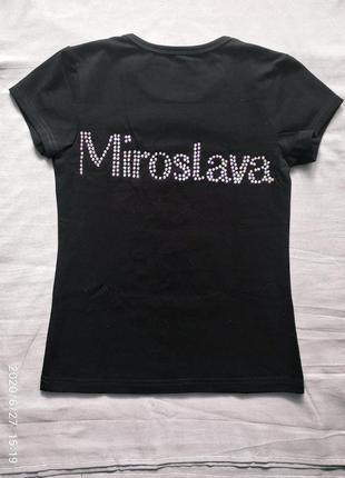 Именная футболка для мирославы по художественной гимнастике