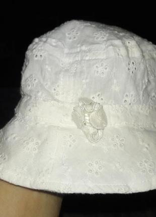 Панамка белая  на 6-12 месяцев