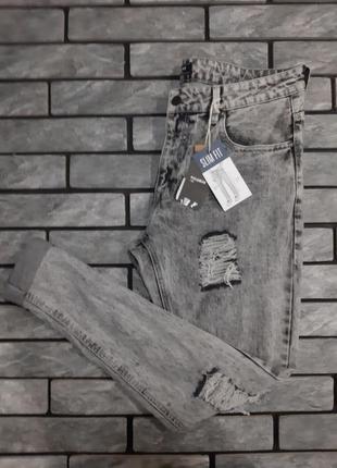 Новенькі приталені топові джинси pull&bear slim