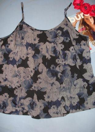 Майка в бельевом стиле размер 54-56 /22 черная синяя на бретелях