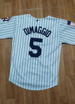 Бейсбольная ретро футболка new york yankees joe dimaggio майка рубашка ny