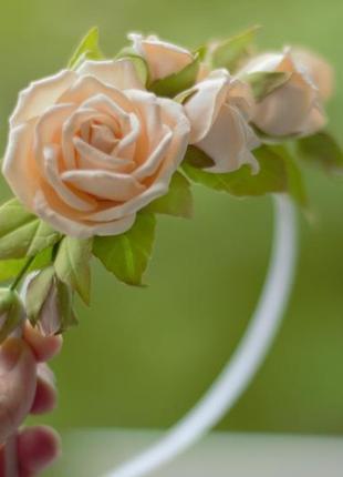 Віночок ручної роботи, венок, вінок з квітами, венок на голову, венок с цветами, вінок
