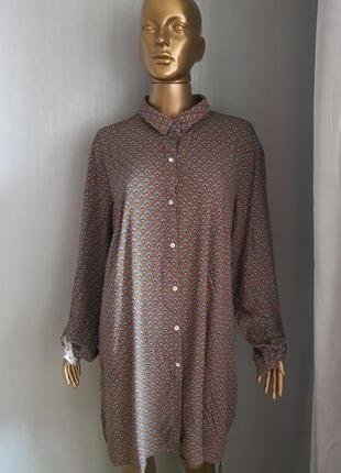 Вискозное платье туника