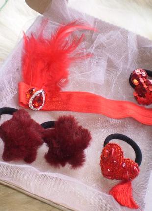 Набір дитячих резинок та повязки для волосся\набор детских резинок и повяски для волос