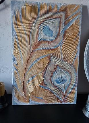 Картина текстурная интерьерная