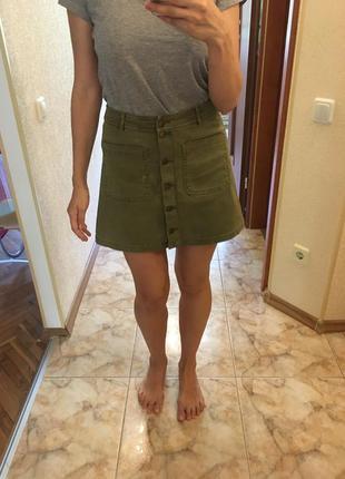 Джинсовая юбка cropp