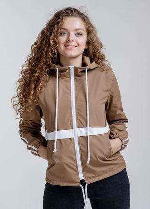 Женская ветровка куртка летняя, с капюшон, жіноча вітровка